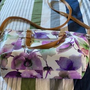 Flower Floral Purse Long Strap Payless
